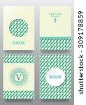 set of brochures. vintage style.... | Shutterstock .eps vector #309178859