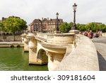 pont neuf  new bridge  the... | Shutterstock . vector #309181604
