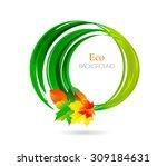 nature vector logo design... | Shutterstock .eps vector #309184631