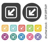web button icons set. vector... | Shutterstock .eps vector #309189569