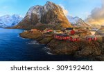 reine fishing village  lofoten  ... | Shutterstock . vector #309192401