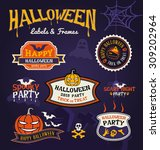 set of halloween party labels... | Shutterstock .eps vector #309202964