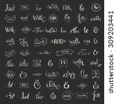big collection of hand sketched ...   Shutterstock .eps vector #309203441