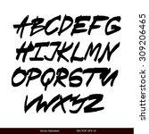 handwritten calligraphic black... | Shutterstock .eps vector #309206465
