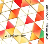 triangles with shades and... | Shutterstock .eps vector #309206885