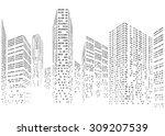 binary code in form of... | Shutterstock .eps vector #309207539