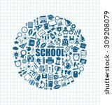 illustration set of school... | Shutterstock .eps vector #309208079