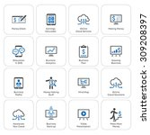business   money icons set.... | Shutterstock .eps vector #309208397