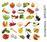 different vegetables isolated... | Shutterstock . vector #30921877