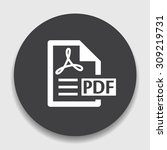 pdf file document icon.... | Shutterstock .eps vector #309219731