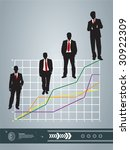 business silhouette and...   Shutterstock .eps vector #30922309