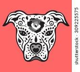 american pitbull terrier  pit... | Shutterstock .eps vector #309225575