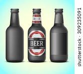 black beer bottles template   ... | Shutterstock .eps vector #309235091