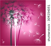 dandelions on the magenta... | Shutterstock .eps vector #309254051