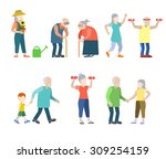 flat style modern people icons... | Shutterstock .eps vector #309254159