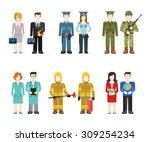 military army officer commander ... | Shutterstock .eps vector #309254234