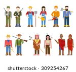 military army officer commander ... | Shutterstock .eps vector #309254267
