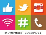 icons for social networking... | Shutterstock .eps vector #309254711