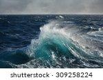 Sea Wave In The Indian Ocean