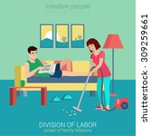 flat style division of labor... | Shutterstock .eps vector #309259661