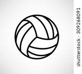 volleyball ball    vector icon | Shutterstock .eps vector #309268091