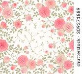 floral vector pattern. seamless ... | Shutterstock .eps vector #309271889