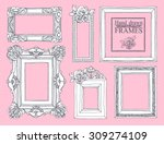 set of vector hand drawn... | Shutterstock .eps vector #309274109