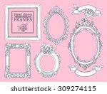 set of vector hand drawn... | Shutterstock .eps vector #309274115