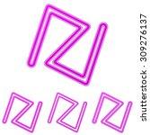 magenta line abstract logo...