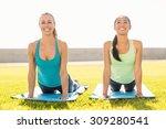 portrait of smiling sporty... | Shutterstock . vector #309280541