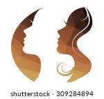 woman  vector logo   girl... | Shutterstock .eps vector #309284894