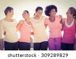 Laughing Women Wearing Pink Fo...