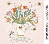 Gorgeous Vase With Tulips  Bee...