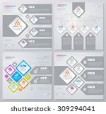 collection of infographics... | Shutterstock .eps vector #309294041
