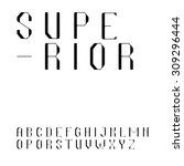 beautiful sans serif font in... | Shutterstock .eps vector #309296444