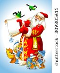 illustration for christmas and... | Shutterstock .eps vector #309305615