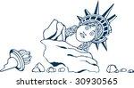 vector illustration of crumbled ... | Shutterstock .eps vector #30930565
