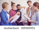 people in our company get on... | Shutterstock . vector #309305951
