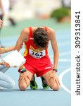 Small photo of BARCELONA - JUNE, 13: Alvaro Martin of Spain when finished 10000 metres race walk event of of the 20th World Junior Athletics Championships at the Olympic Stadium on July 13, 2012 in Barcelona, Spain