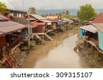 House Boat River In Thailand