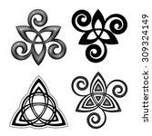 vector celtic triskel symbols... | Shutterstock .eps vector #309324149