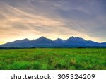 summer mountain landscape.... | Shutterstock . vector #309324209
