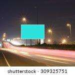 speeding cars on modern road...   Shutterstock . vector #309325751