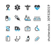 medical icons vector | Shutterstock .eps vector #309328319