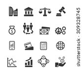business icons set vector | Shutterstock .eps vector #309328745