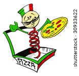 job series   pizzaiolo | Shutterstock .eps vector #30933622