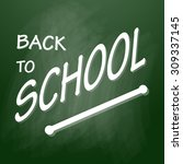 back to school emblems on... | Shutterstock .eps vector #309337145