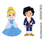 illustration of very cute... | Shutterstock .eps vector #309347831