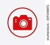 photo camera symbol. dslr... | Shutterstock .eps vector #309348851