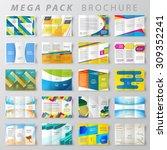 mega pack brochure design... | Shutterstock .eps vector #309352241